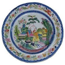 """Antique English """"Mason's Ironstone China"""" """"Mogul Pattern""""  Plate circa 1815.."""