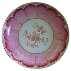 Antique Chinese Qianlong /Youngzheng Famille Rose Lotus Porcelain Charger  circa 1740