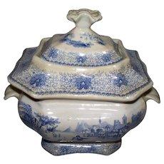 Antique English Staffordshire Sugar Box or Bowl  circa 1830