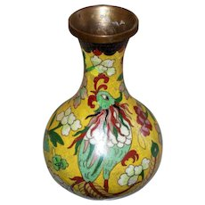 Antique Chinese Cloisonne Vase with Beast
