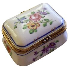 Antique French Porcelain Box...  perfect