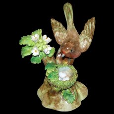 "Antique Crown Staffordshire J.T. Jones  ""Robin"" circa 1921 perfect"