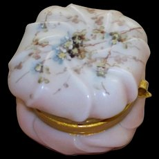 Lovely Antique Wavecrest  C.F. Monroe  Helmschied Swirl   Dresser Jar   perfect