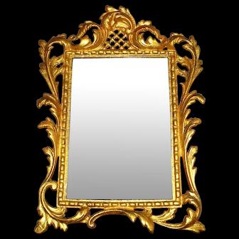 Antique Rococo Bronze Frame & Beveled Glass Mirror- Frame