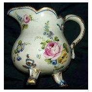 """Antique Sevres Porcelain Creamer """"Pot a' lait a"""" trois pieds""""   circa 1780"""