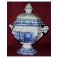 "Rare Antique Staffordshire ""Davenport"" Pearlware Compote w/ Angel New York City!"