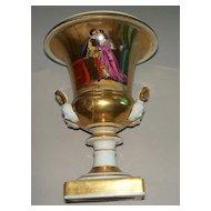 """Old Paris"" Porcelain Urn /Vase  Romantic; Lovers  circa 1820"