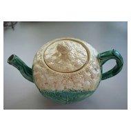 Etruscan Majolica G.S.H Cauliflower Tea Pot 1870's
