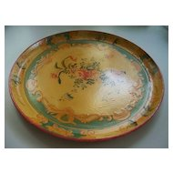Japanese Papier Mache Tray  with Roses & Butterflies & Moriage Dots