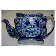 Antique Staffordshire  Historical Pearlware Denton Park Yorkshire, England Tea Pot c.1820