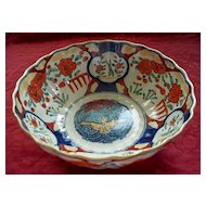 Antique Japanese Imari Large Bowl with American Eagle in Center   Meiji Period