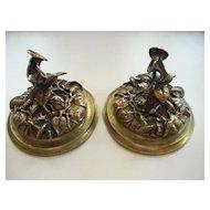 French Art Noveau Bronze  Lids  for  Vases   circa 1900