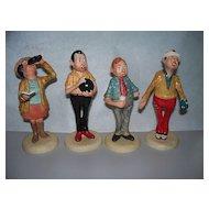 Four Goebel  Figurines by Philip Kraczkowski   circa 1970s