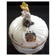 """Mottahedeh  Large Bowl """"Swan"""" Boy on Dolphin & Armorial Crest  New"""