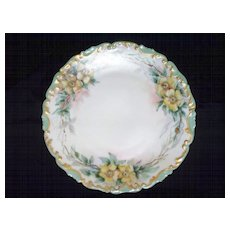 T & V Limoges Lovely Yellow Roses Luster  Hand-painted  circa 1915