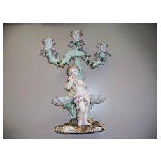 Meissen  Dresden  Candelabra  with Boy & Girl  Figurine 1882-1902