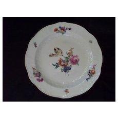 Antique Meissen Plate Raised Embossed Rococo Designs  18th Century