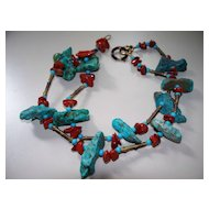 Turquoise Necklace 24""
