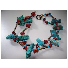 """Turquoise Necklace 24"""""""