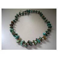 Vintage Turquoise Necklace 25""