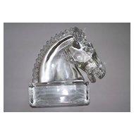 Vintage Crystal Horse Sculpture