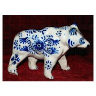 French Faience  'Desvres'  Bear    circa 1910