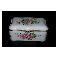 Antique French Faience Veuve Perrin Box with Roses  18th century