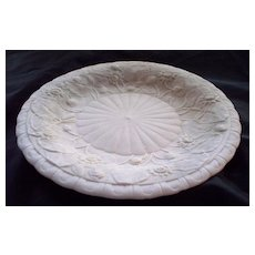 "Antique Parian Plate Water Lillies  9"" circa 1850"
