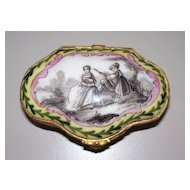 Antique French  Porcelain Sceaux Box  signed & dated 1777