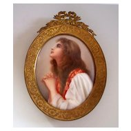 Antique German Porcelain Plaque  Signed  by   Wagner  1880- 1900 perfect
