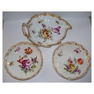 Three Dresden Germany Items  Meissen- Style