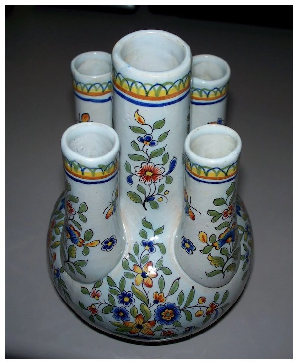 Antique French Faience Rouen Tulip Vase Ca1890 Sold Ruby Lane