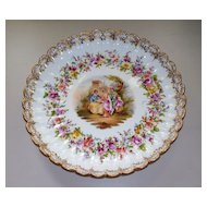 Antique Meissen Fluted & Scalloped Charger