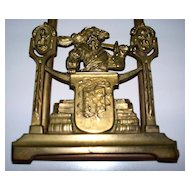 Antique  Bronze Shakespeare Book-Ends    circa 1890
