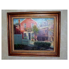 """""""Old Pewter Shop"""" original Oil Painting by John Caggiano of Rockport, Ma 1986"""