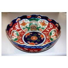 Antique Large Japanese Imari Bowl Edo/Meiji Period w/Chimera/Foo Dogs/Lions