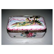 "Lovely French Faience  ""Veuve Perrin""  Box 18th century   Perfect"