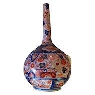 Antique Japanese Imari Edo Meiji Period Vase Fine Delicate Painting