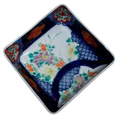 Antique Japanese Imari Footed Square Bowl Edo/Meiji Period Marked