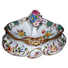 Antique Paris Porcelain C.H. Levy Rococo Floral Basket circa 1876-1881