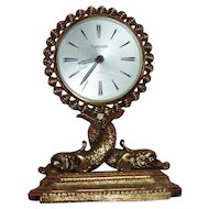 French 'Stylebuilt' Alarm Clock with Dolphins or Dragons..