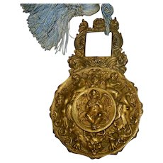 Antique French Bronze Rococo Clock Pendulum of Angels/Cherubs early 19th century