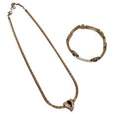 Christian Dior Faux Diamond Necklace New  ...  Faux Diamond Bracelet stone missing