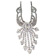 Vintage Faux Diamonds Rhinestones Necklace 1940's