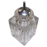 Vintage  Baccarat-Style Crystal  Bottle within a Bottle   Hand- Blown  1930s  Art Deco