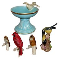 Five Vintage German Goebel Birds Collection