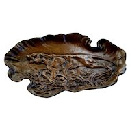 Theodore Roosevelt  Bronze Tray with Tiger... vintage