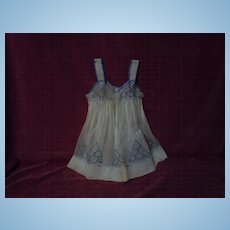 All Original antique 19th century Pinafore for french bebe huge doll