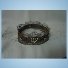 Couture Crown for french bebe or wax doll