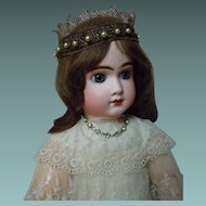 Exquisite Crown Headdress for french bebe or wax doll